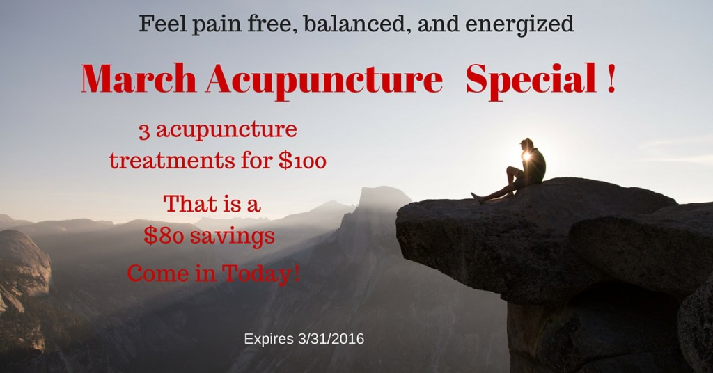 March Acupuncture Special !
